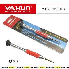 DESTORNILLADOR INDIVIDUAL -YAXUN YX NO.11 – ESTRELLA 0.8 ROJO