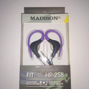 MANOS LIBRES MADISON HP-258 SPORT MORADO