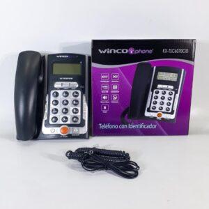 TELEFONO WINCO KXT 6070 CON IDENTIFICADOR NEGRO