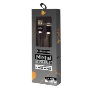 CABLE USB MOD11 – METALICO – IPH – NEGRO
