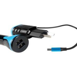 CARGADOR NGH-2A – P/ TABLET Y CELULARES + CARGADOR 12V CON 2 USB PARA AUTO