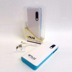 POWER BANK ONLY LM505 3 USB 10000MAH CELESTE