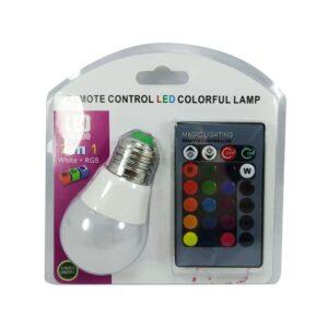 FOCO LED RGB C/CONTROL DE COLORES