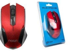 MOUSE USB NOGA NGM-357ROJO