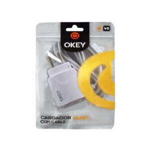 CARGADOR 220V OKEY MOD40 C/CABLE BLANCO